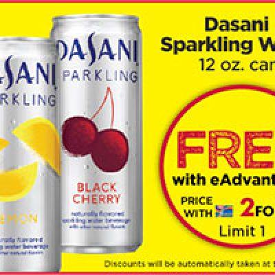 Giant Eagle Shoppers: Free Dasani Sparkling 12oz Can