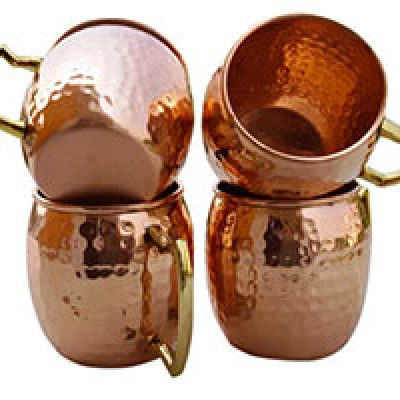 Hammered Copper Mule Mugs, Set of 4 Only $25.50 (Reg $190.00) + Prime