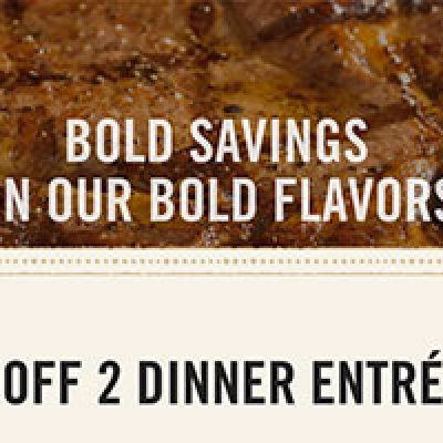 Outback Steakhouse: $8 Off 2 Dinner Entrees