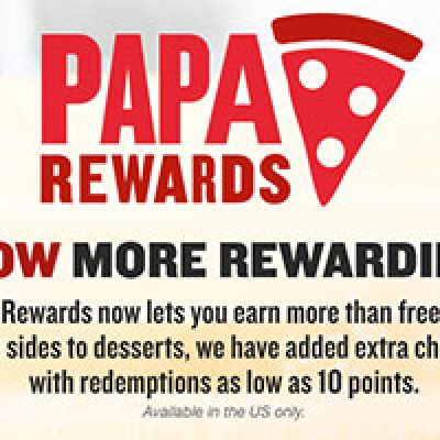Papa Johns: Earn Points For Free Pizza