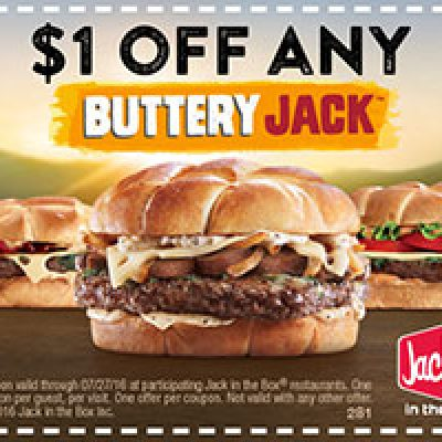 Jack In The Box: $1 Off Buttery Jack