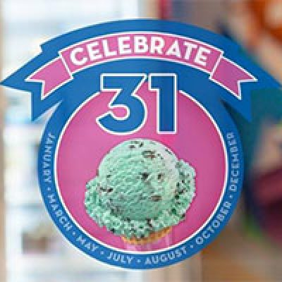 Baskin-Robbins: Scoops for $1.31 on May 31st