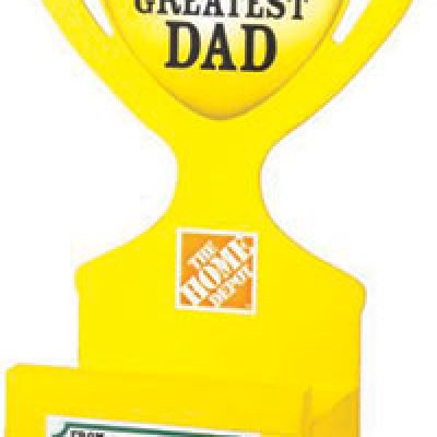 Home Depot Kid's Workshop: Free Father's Day Trophy Phone Holder