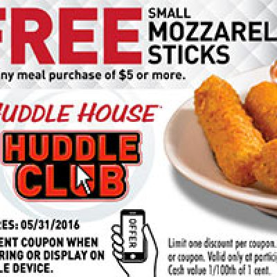 Huddle House: Free Mozza Sticks W/ Purchase