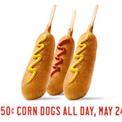 Sonic: $0.50 Corn Dogs All Day - May 24th