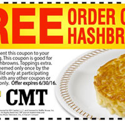 Waffle House: Free Hashbrowns