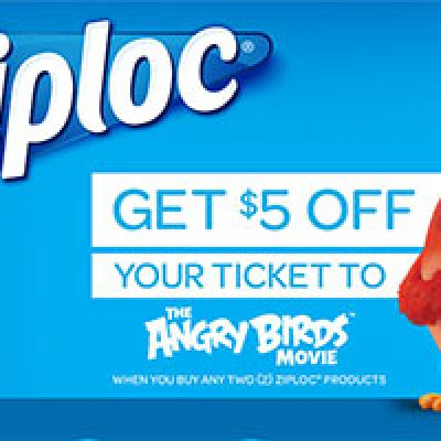 $5 Off Angry Birds Movie Ticket W/ Purchase