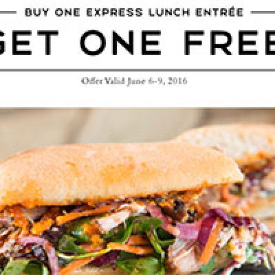 Macaroni Grill: BOGO Express Lunch Entree