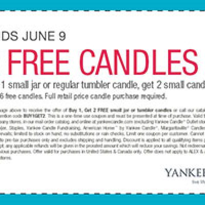 Yankee Candle: But 1 Get 2 Free Deal