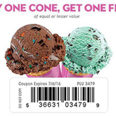Baskin-Robbins: BOGO Free Cone - Expires 7/6