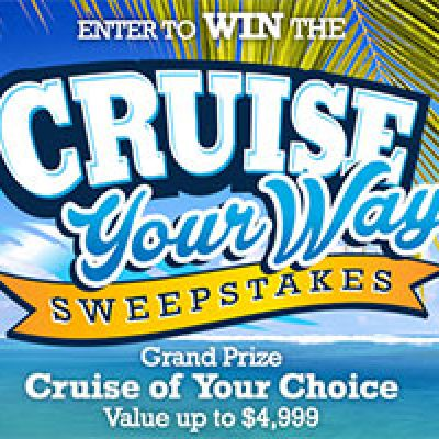 Win a Cruise To Your Destination Choice