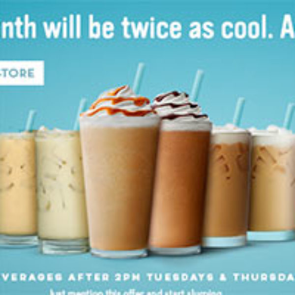 Caribou Coffee: BOGO Cold Beverage