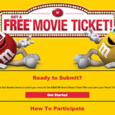 M&M's: Earn A Free Movie Ticket W/ Purchase