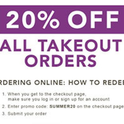 P.F. Chang's: 20% Off Takeout Orders