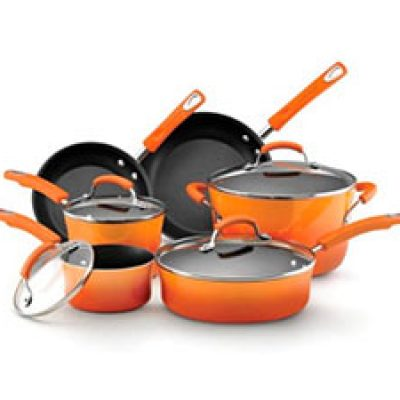 Rachael Ray 10-Piece Cookware Set Only $71.39 (Reg $245.00) + Prime