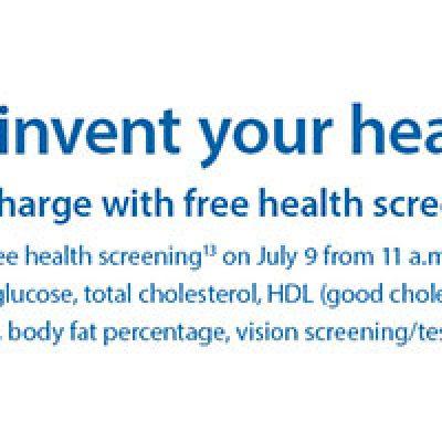 Sam's Club: Free Health Screening - July 9th