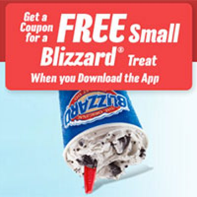 DQ: Free Small Blizzard W/ App Download