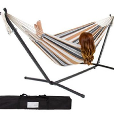 Double Hammock W/ Steel Stand & Carrying Case $69.99 + Free Pickup