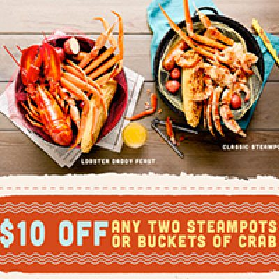 Joe's Crab Shack: $10 Off Two Steampots or Crab Buckets