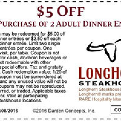 photo about Longhorns Printable Coupons identified as Longhorn steakhouse coupon codes - Costom controler