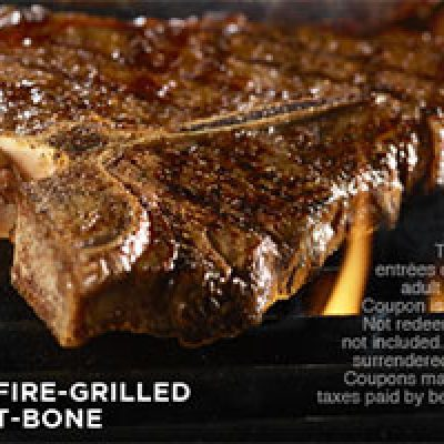 Longhorn: $5 Off 2 Adult Entrees
