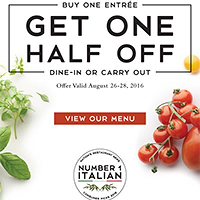 Macaroni Grill: BOGO 1/2 Off Entrees