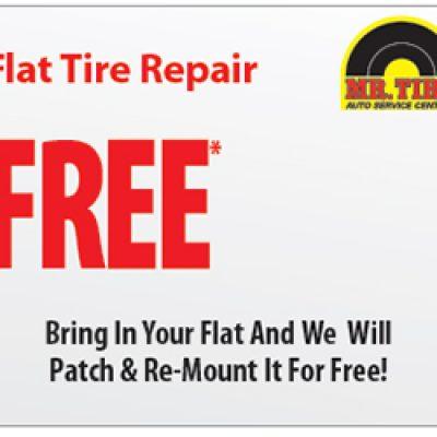 Mr Tire: Free Flat Tire Repair