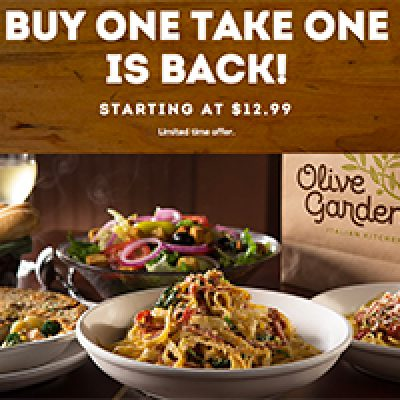 Olive Garden: Buy One Take One Home Free