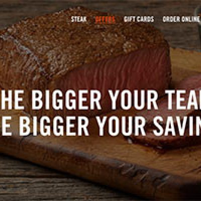 Outback Steakhouse: Up To 20% Off Entrees 8/3 - 8/7