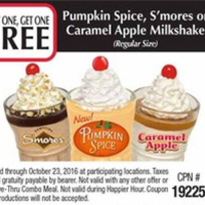 Steak N' Shake: BOGO Free Fall Favorite Milkshakes