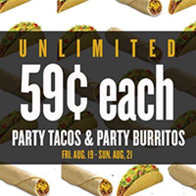 Taco Bueno: Unlimited $.59 Tacos & Burritos