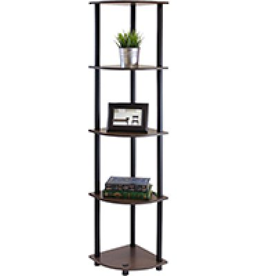 Furinno 5-Tier Corner Shelf Just $17.88 (Reg $32.08) + Prime