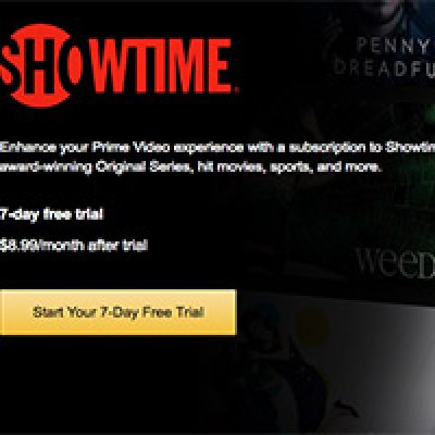 Amazon Video: Free Showtime Trial