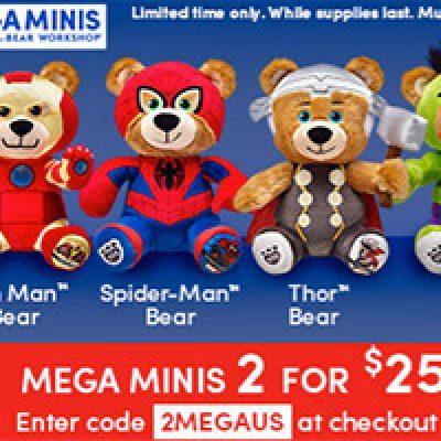Build-A-Bear: Marvel Mega Minis $10/Each WYB Four
