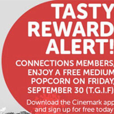 Cinemark: Free Popcorn - Sept. 30th