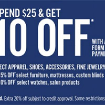 JCPenney: $10 Off $25 Until 09/05