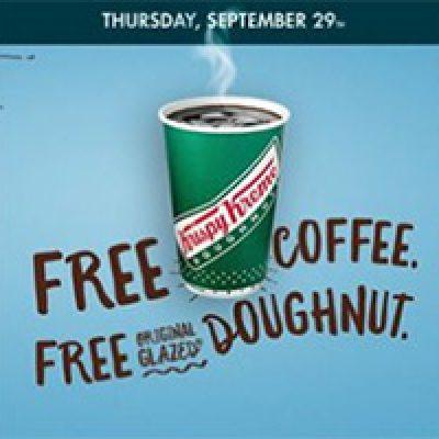 Krispy Kreme: Free Coffee & Doughnut - Sept 29th