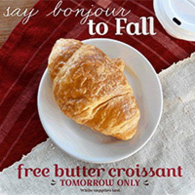 la Madeleine: Free Butter Criossant - 9/22 Only