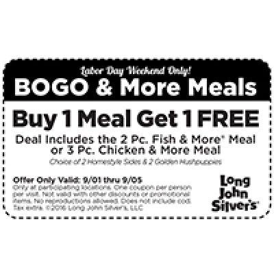 Long John Silver's: BOGO Free Meal Until 09/05