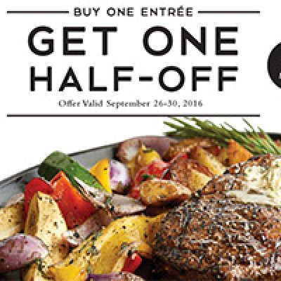 Macaroni Grill: B1G1 Half-Off - Ends Sept 30