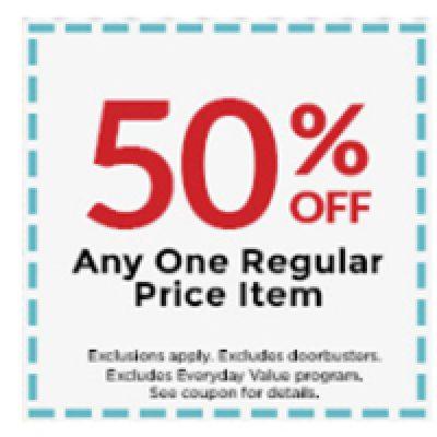 Michaels: 50% Off One Regular Price Item