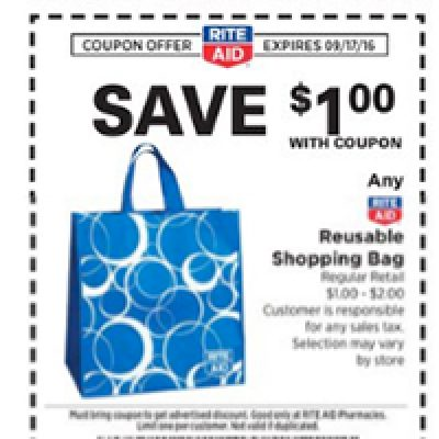 Rite Aid: Free Reusable Shopping Bag W/ Coupon