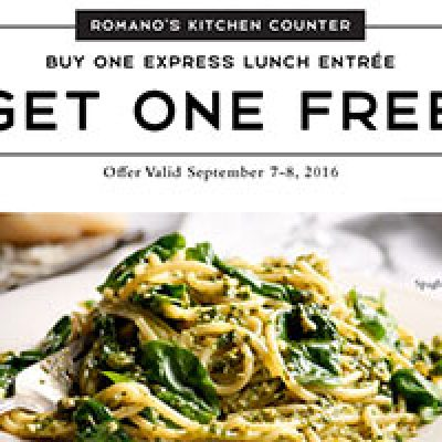 Macaroni Grill: BOGO Express Lunch Entree - Last Day