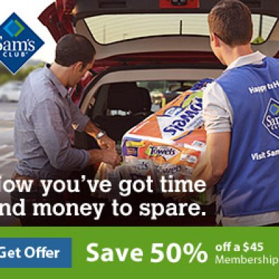 Sam's Club: 50% Off Membership