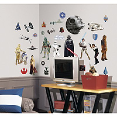 Star Wars Classic Wall Decals Just $6.49 As Prime Add-On