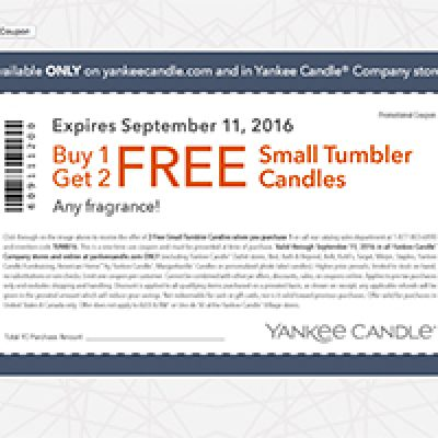 Yankee Candle: B1G2 Free Small Tumbler Candles
