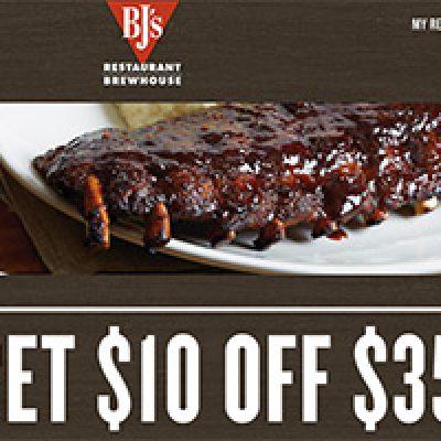 BJ's Restaurant: $10 Off $35
