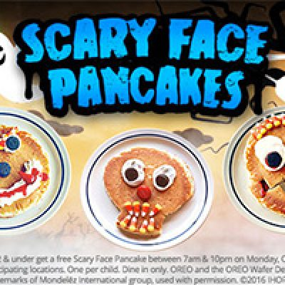IHOP: Free Scary Face Pancakes For Kids - Oct 31