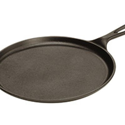 Lodge Cast-Iron Round Griddle, 10.5-inch Just $11.21 + Prime