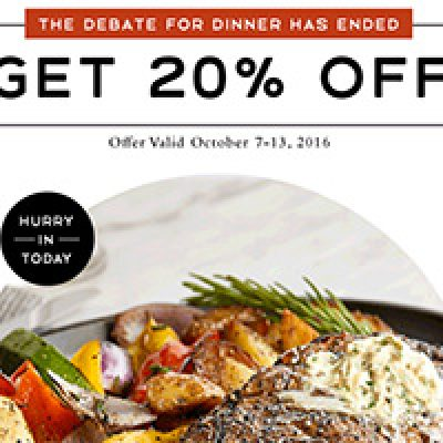 Macaroni Grill: 20% Off - Oct 7-13